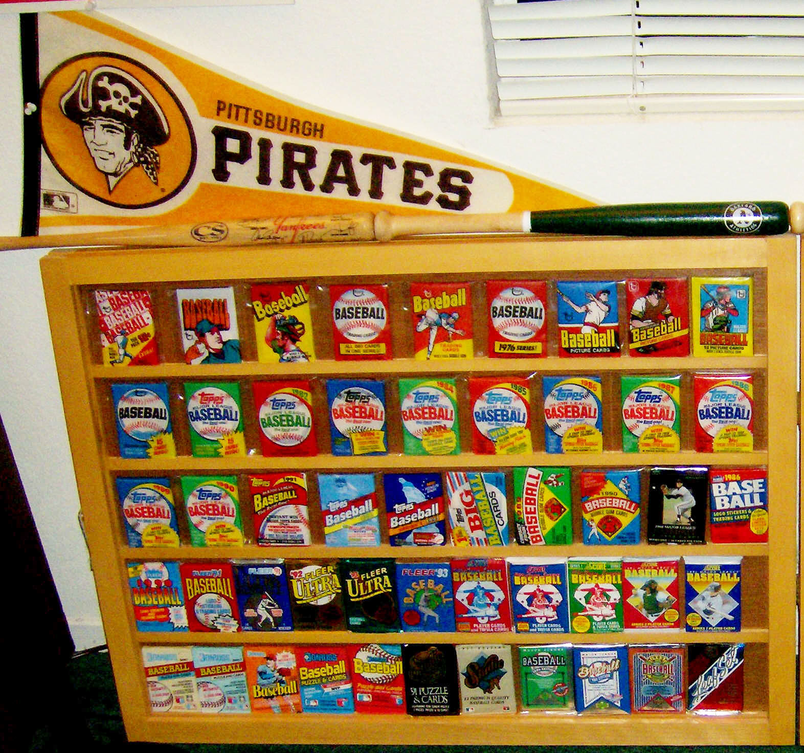 Sealed Baseball Card Collection Display