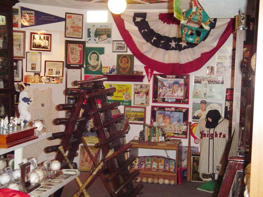 Vintage Baseball Collectors Showcase Memorabilia And Collectibles Display