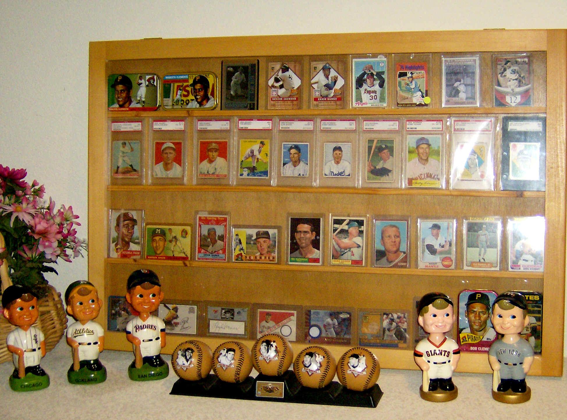 Roberto Clemente Baseball Card Collectibels Display Room