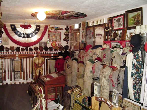 Field Of Dreams Vintage Baseball Memorabilia Display