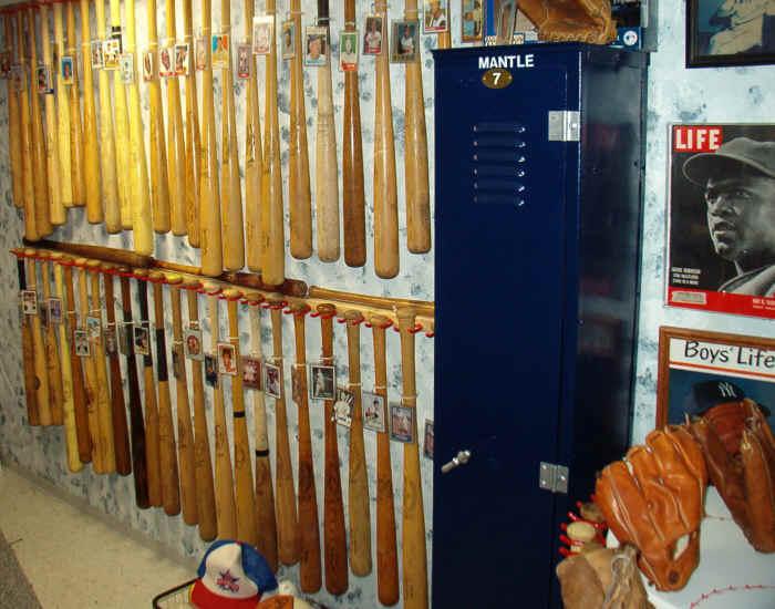 Baeball Bat Display Baseball Glove
