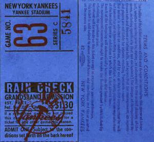 1957 Yankees Home Schedule