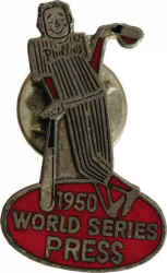 1950 Philadelphia Phillies World Series Press Pin