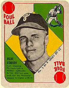 1951 Topps Blue Back Baseball Cards