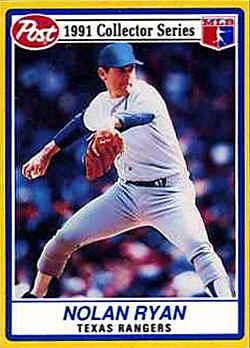 1991 Post Baseball Cards Checklist
