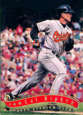 a7a34b8edb 1997 Stadium Club Cal Ripken card 8, 1997 Stadium Club Baseball Cards &  Free Checklist