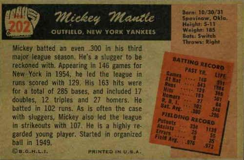 1955 Bowman Baseball Cards Checklist