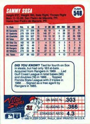 1990 Fleer Baseball Cards