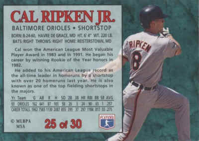 1994 Post Baseball Cards Checklist