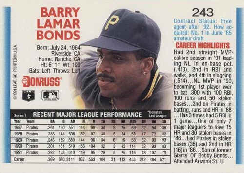 1992 Donruss Baseball Cards