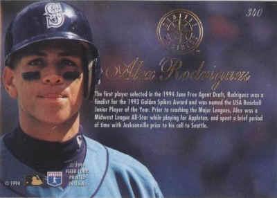 1994 Flair Baseball Cards