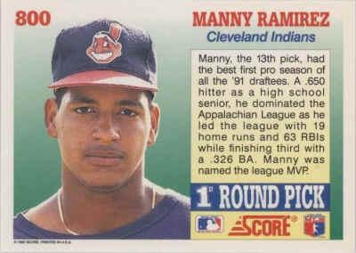 1992 Score Baseball Cards