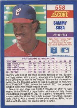 1990 Score Baseball Cards