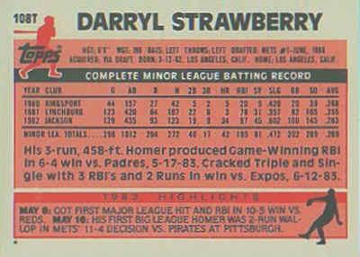 1983 Topps Traded Baseball Cards