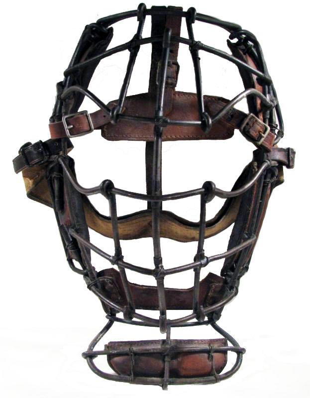 Antique baseball photograph 1890/'s Catchers glove The Catcher mask